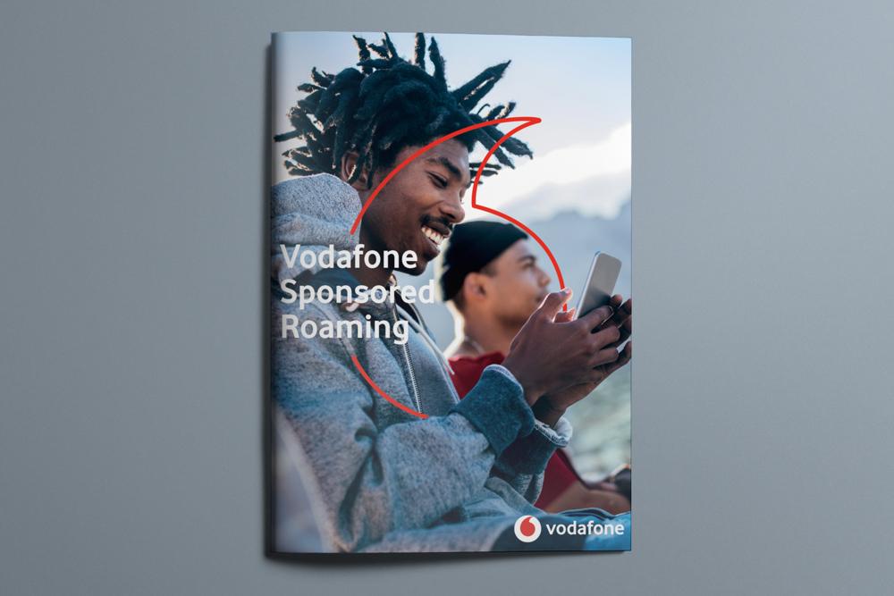 Vodafone corporate brochure design