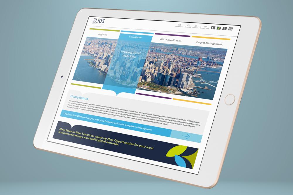 Zlios website design and development, UX & UI