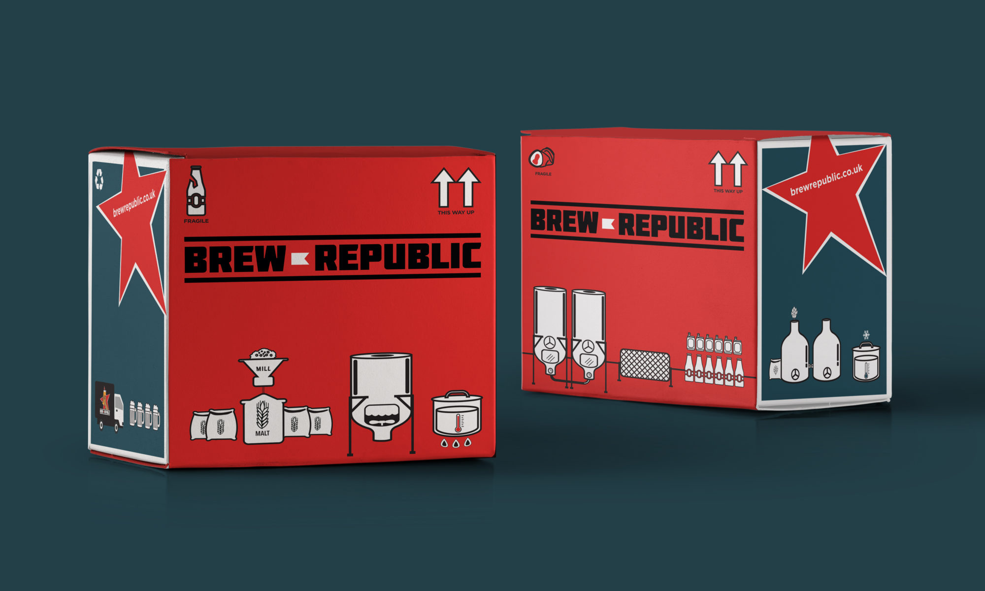 Brew Republic beer and drink package design