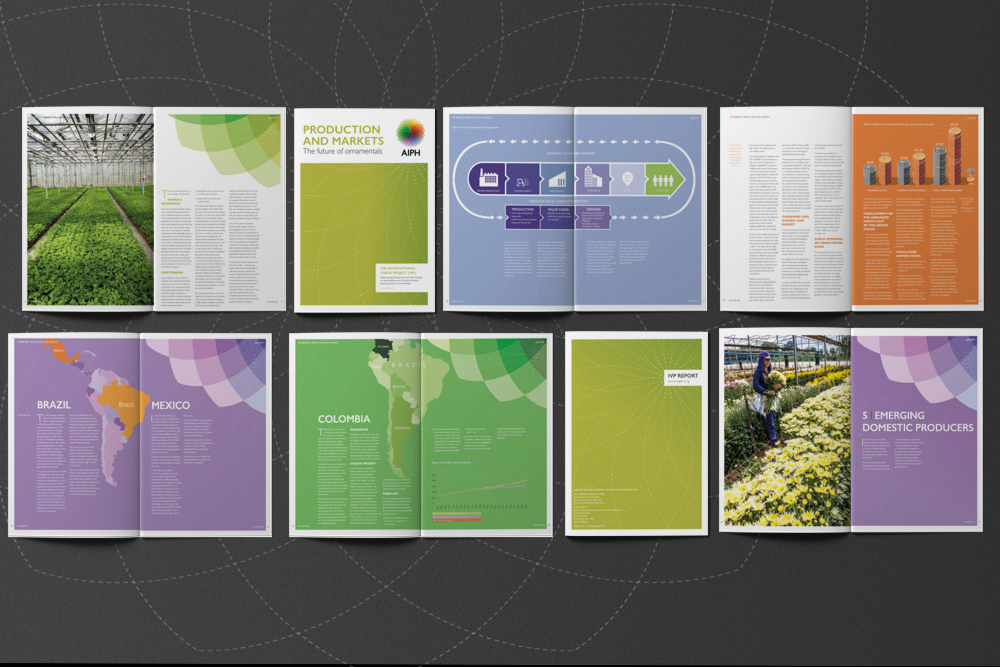 Report and infographic design and print for AIPH